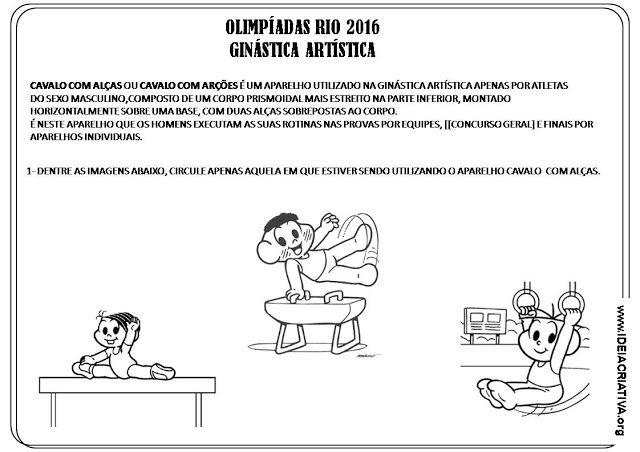 Atividade Olimpiadas Rio 2016 Ginastica Artistica Atividades