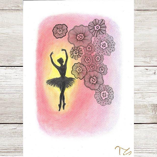 #art #myart #drawing #drawings #mydrawing #graphite #pastell #zentangle #colours #instaarts #ballet #balletdancer #ballerina #dance #graceful #gracefully