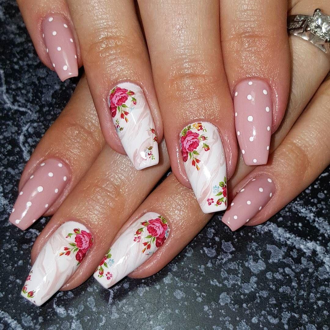 Vintage Nail Art Designs Vintage Floral Nails Vintage Rose Nail