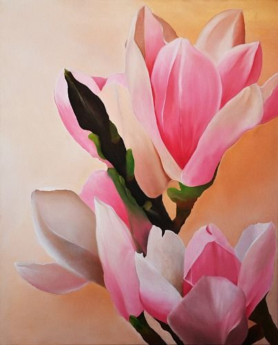 "Ralf Schaback, ""Magnolien"" (2) With a click on 'Send as art card', you can send this art work to your friends - for free!"