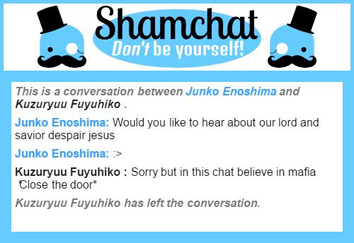 A conversation between Kuzuryuu Fuyuhiko  and Junko Enoshima