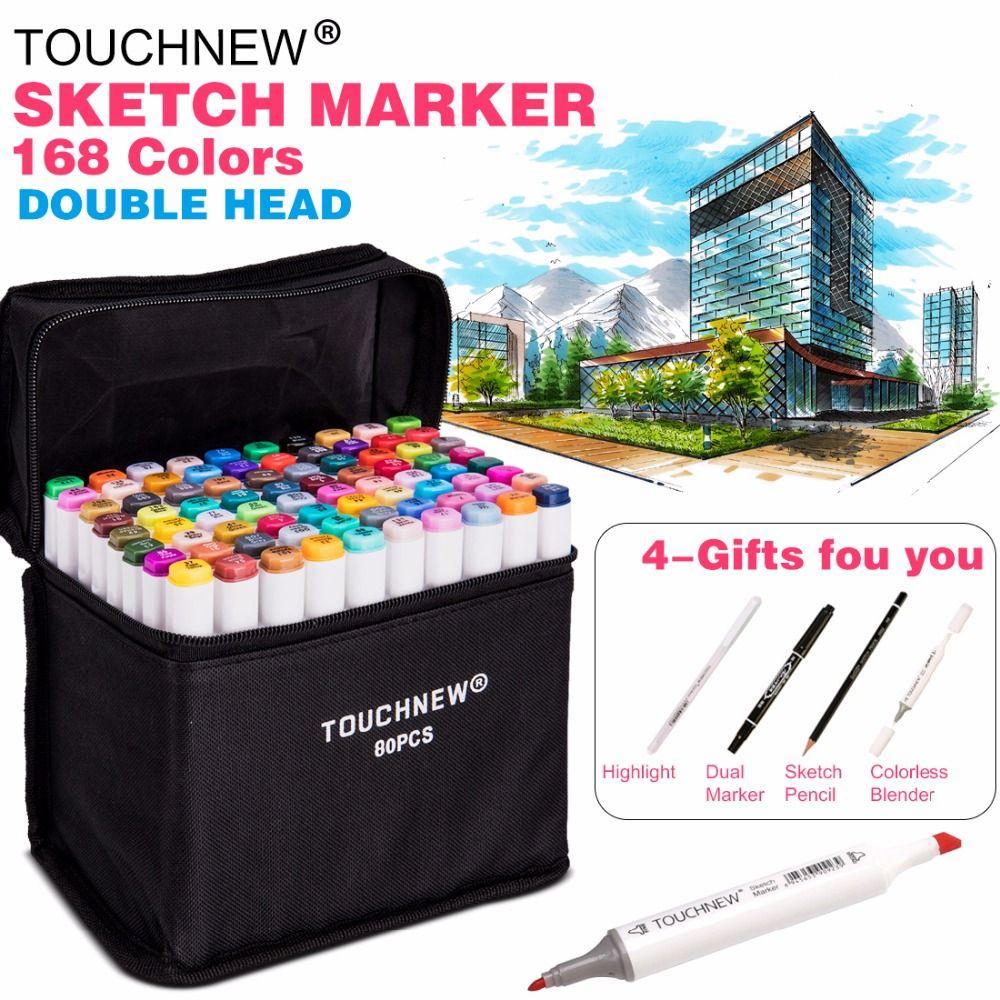 30//40//60//80 Color Dual Heads Marker Pen Set Oily Alcohol Art Sketch Marker