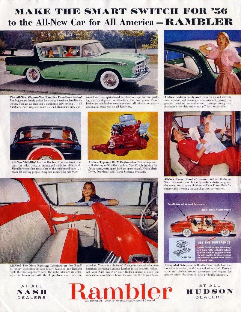 56 Rambler | Rambler Car Ads | Pinterest | Ads and Cars