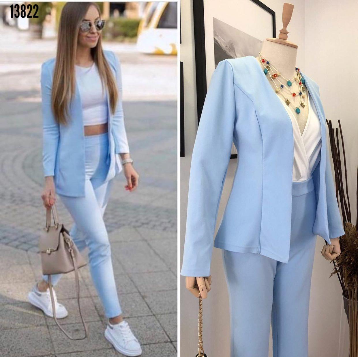 Aski Dolabi Adli Kullanicinin Moda Kadin Panosundaki Pin 2020 Mavi Takim Elbise Zara Moda Kadin