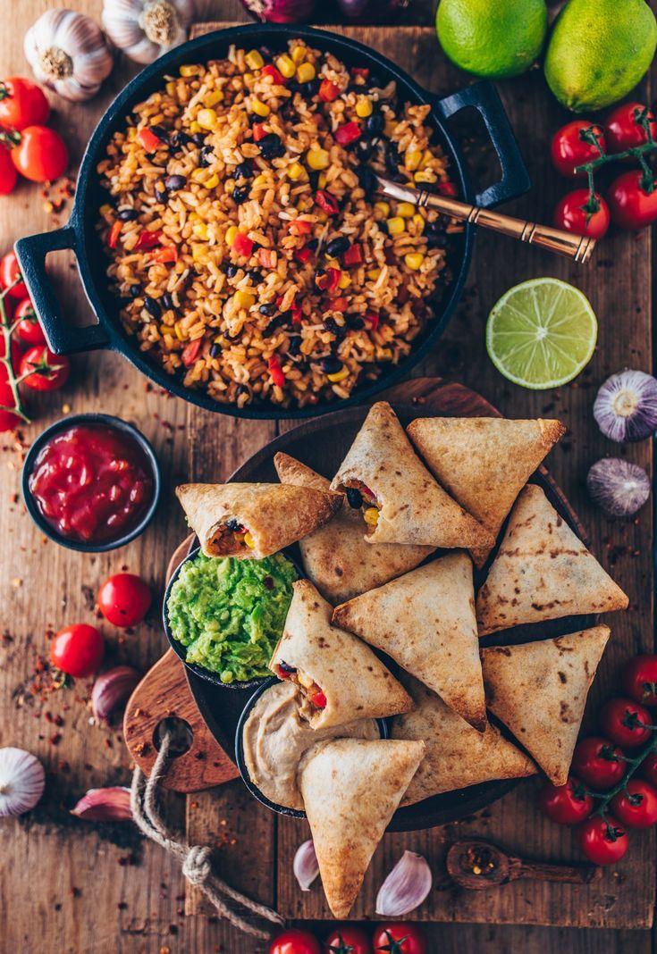 Photo of Vegan burrito samosas with guacamole and cashew dip – Bianca Zapatka | recipes