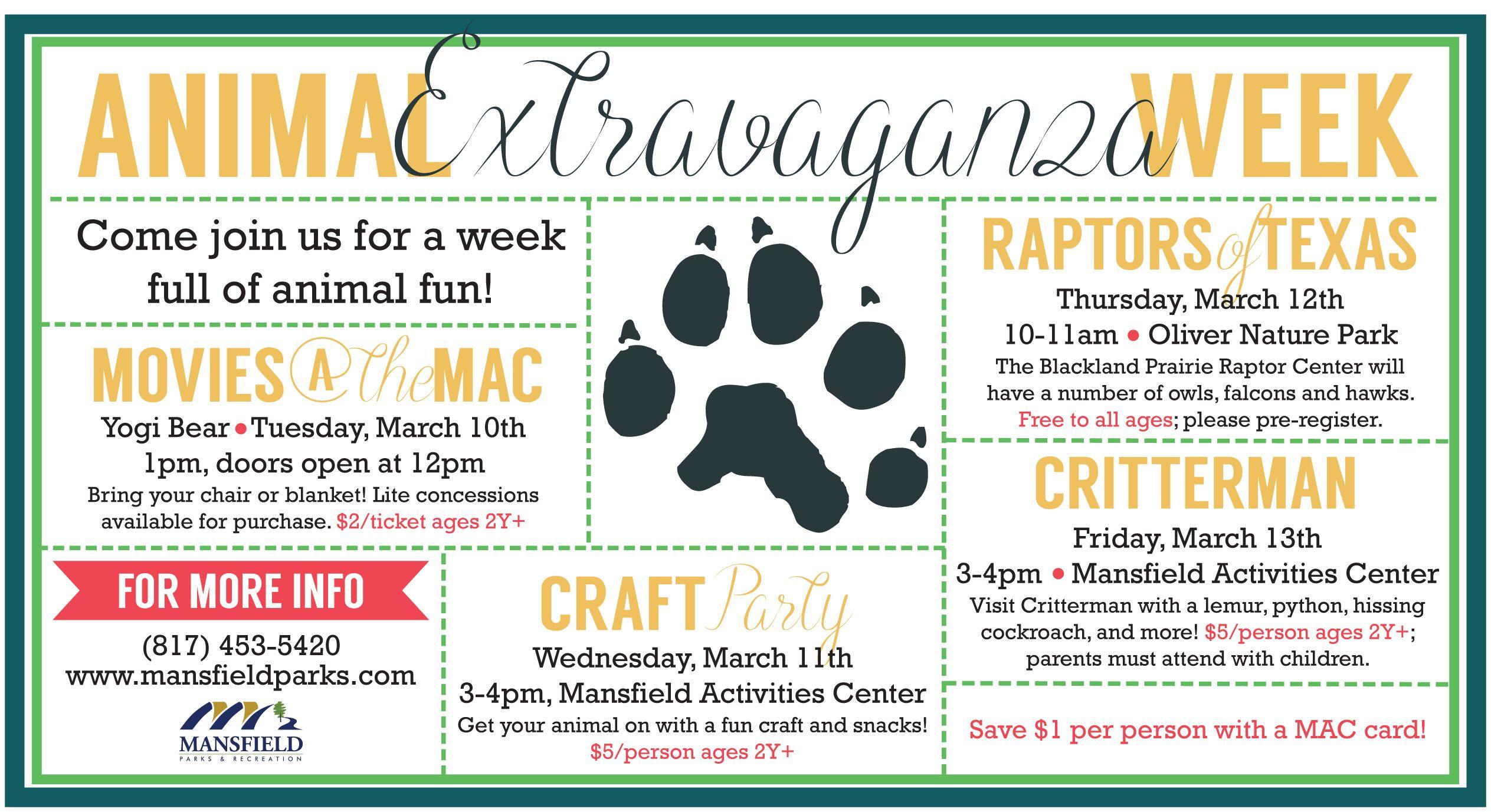 Animal Extravaganza Week 2015
