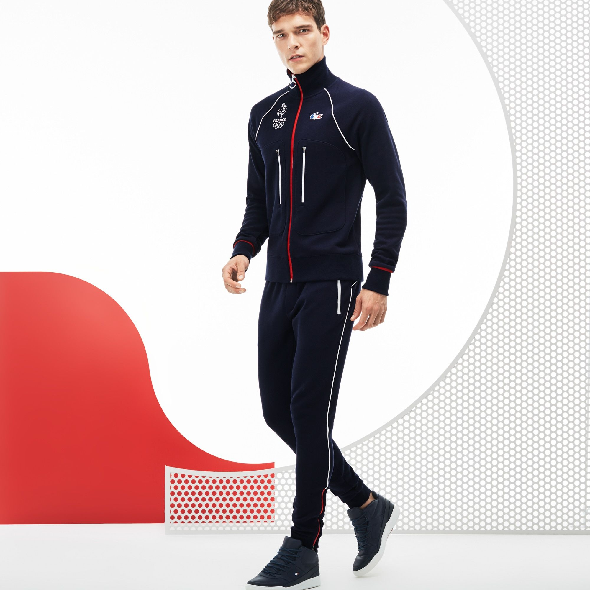 7a6786a4b9 Pantalon de survêtement Lacoste SPORT en molleton Collection France  Olympique | LACOSTE