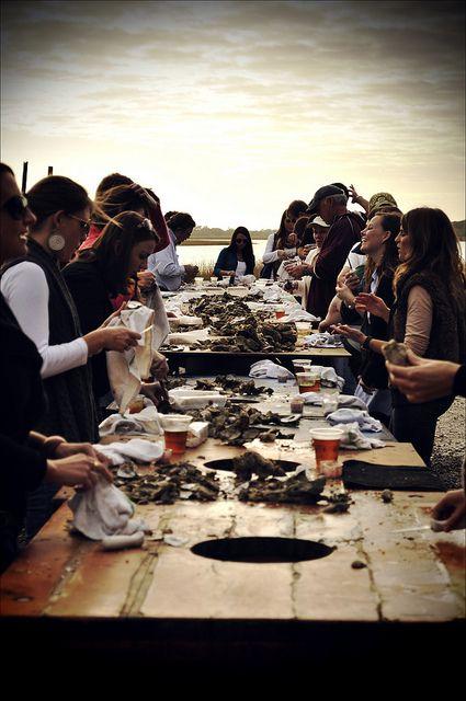 oyster roast.   photo by jared bramblett.