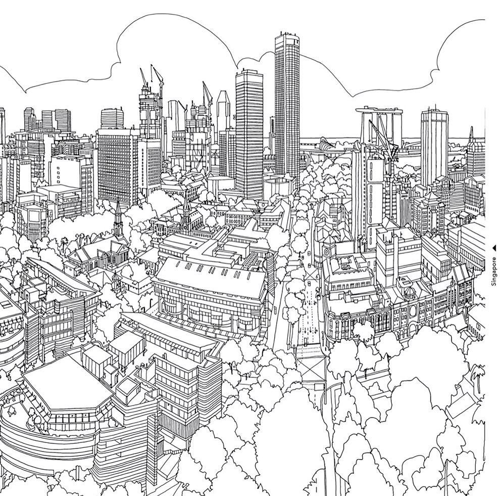Roo Stenning On Twitter Fantastic Cities Coloring Book Coloring Books Coloring Pages