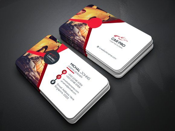 Car Business Card By Creative Idea On Graphicsauthor Templates - Business card template paper