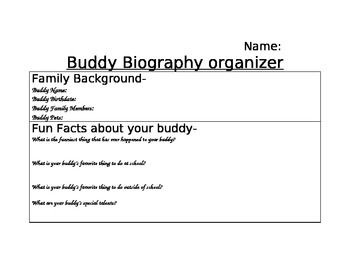 biographical sketch questions