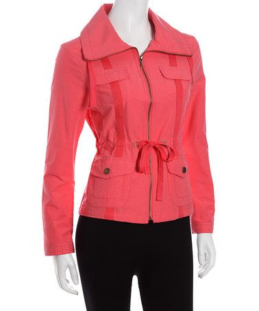 Take a look at this Ice Poppy Jacket by Live A Little on #zulily today!