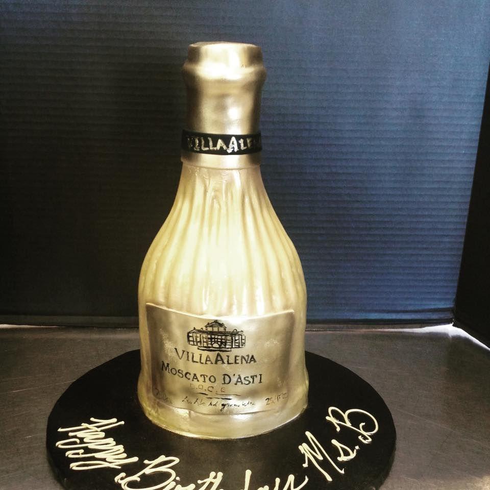 Moscato DAsti Wine Bottle Birthday Cake