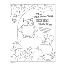 Who Loves You Jesus Fall Coloring Pages Halloween Coloring Pages Christian Fall Crafts