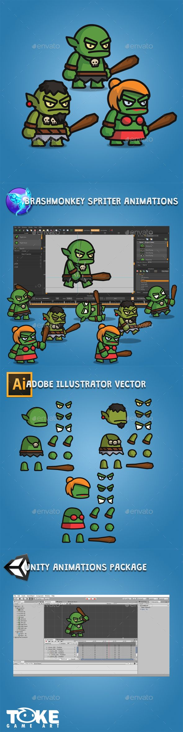 Tiny Style Ogre Cool animations, Pixel art games, Ogre