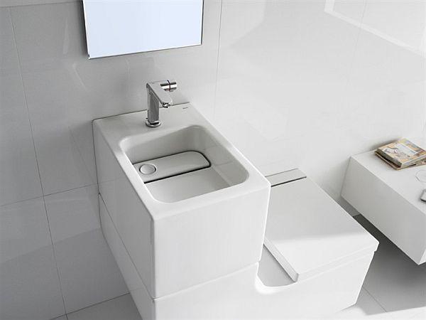 space saving toilet sink toilet combo