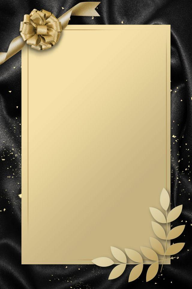 Simple Invitation Card Gold Black Wedding Invitation Background Invitation Background Simple Invitation