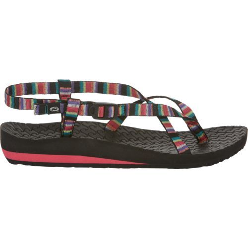 72f748538a2a O Rageous Women s Stripe Antigua Sandals (Black Light Pink
