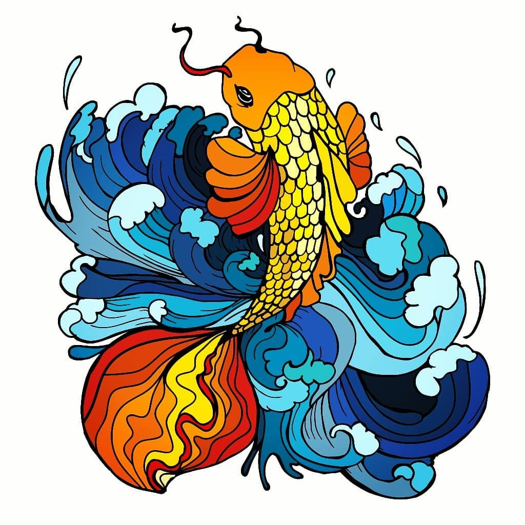 Image result for colorful pisces art