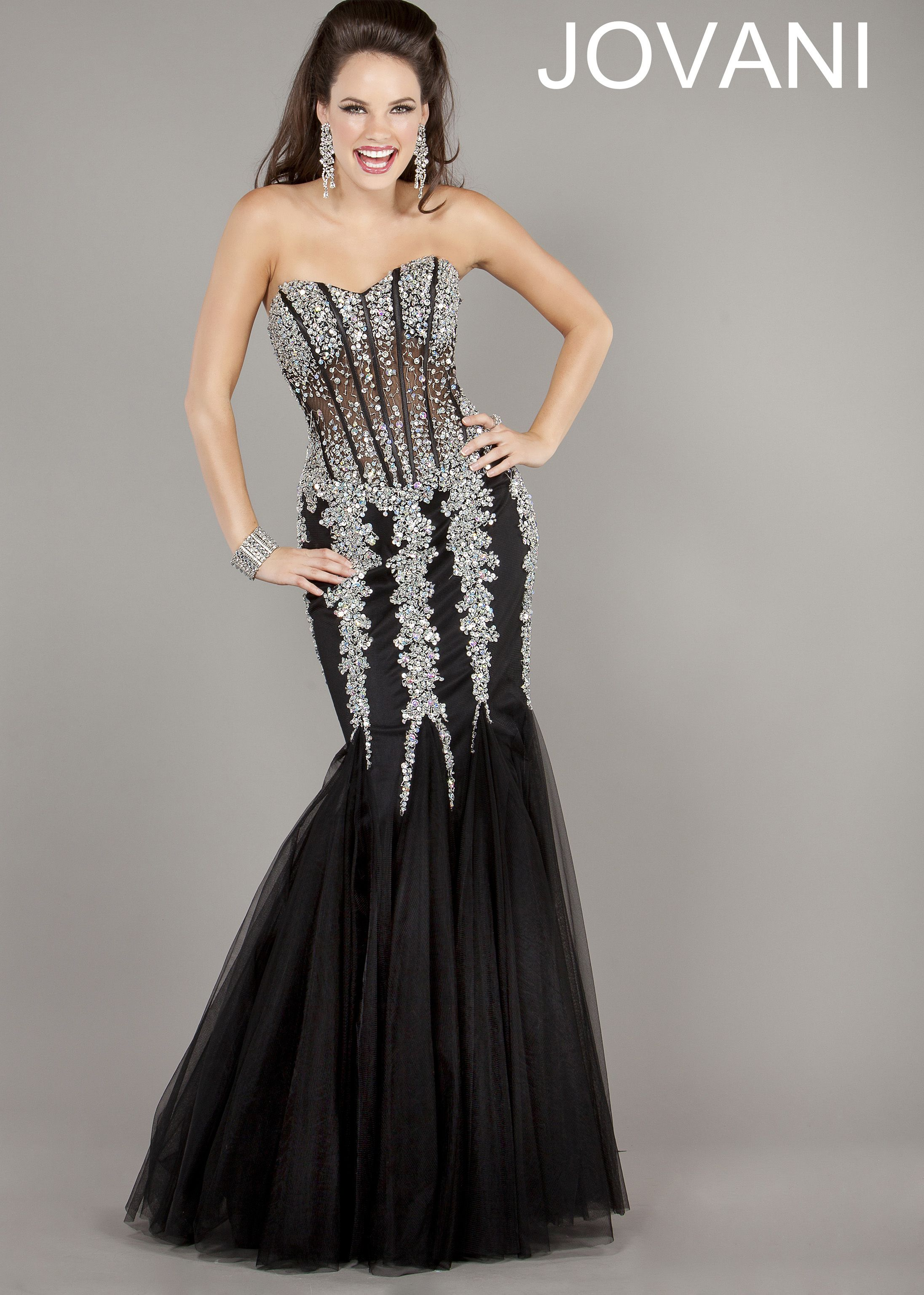 Black jovani mermaid prom dress recommend dress for summer in 2019
