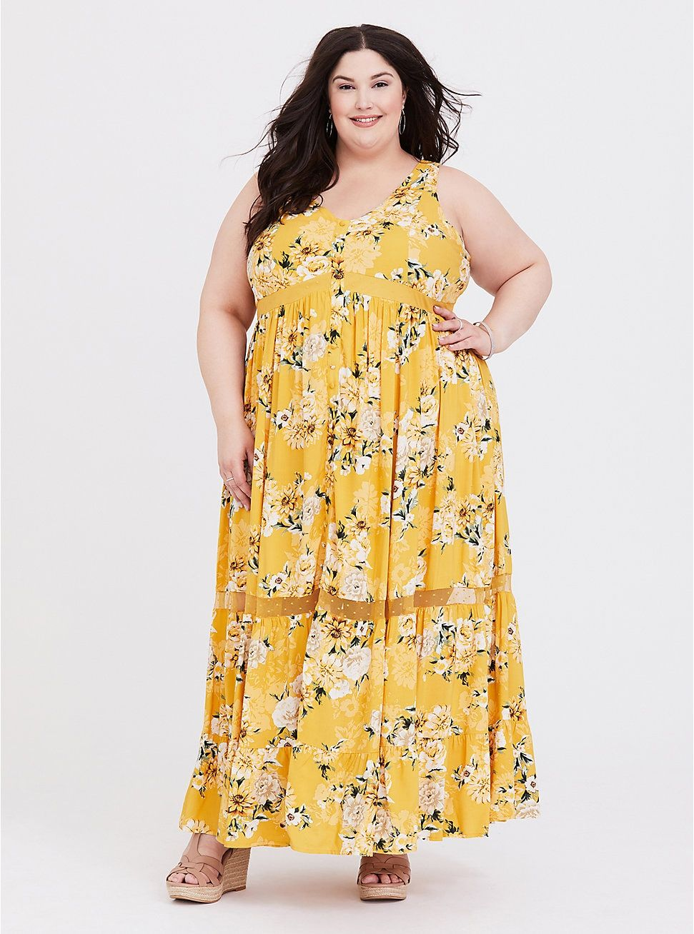 0d427b9e3068 Yellow Floral Challis Maxi Dress in 2019 | I Feel Pretty | Dresses ...