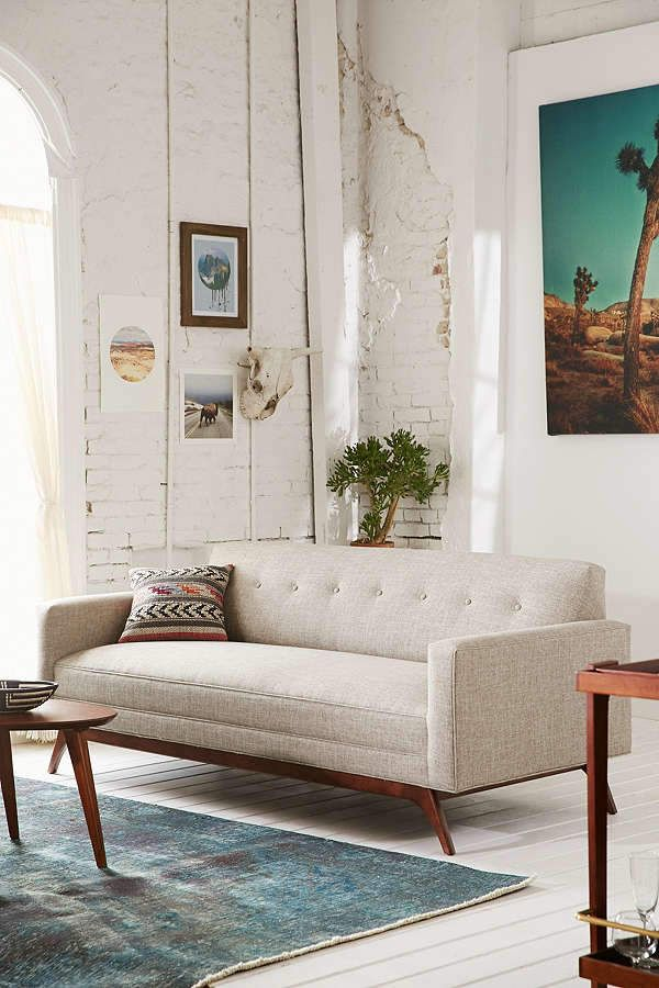 Urban Outfitters Atomic Tufted Sofa. Best Rustic Small Living Room Areas  Home Style Interior Design