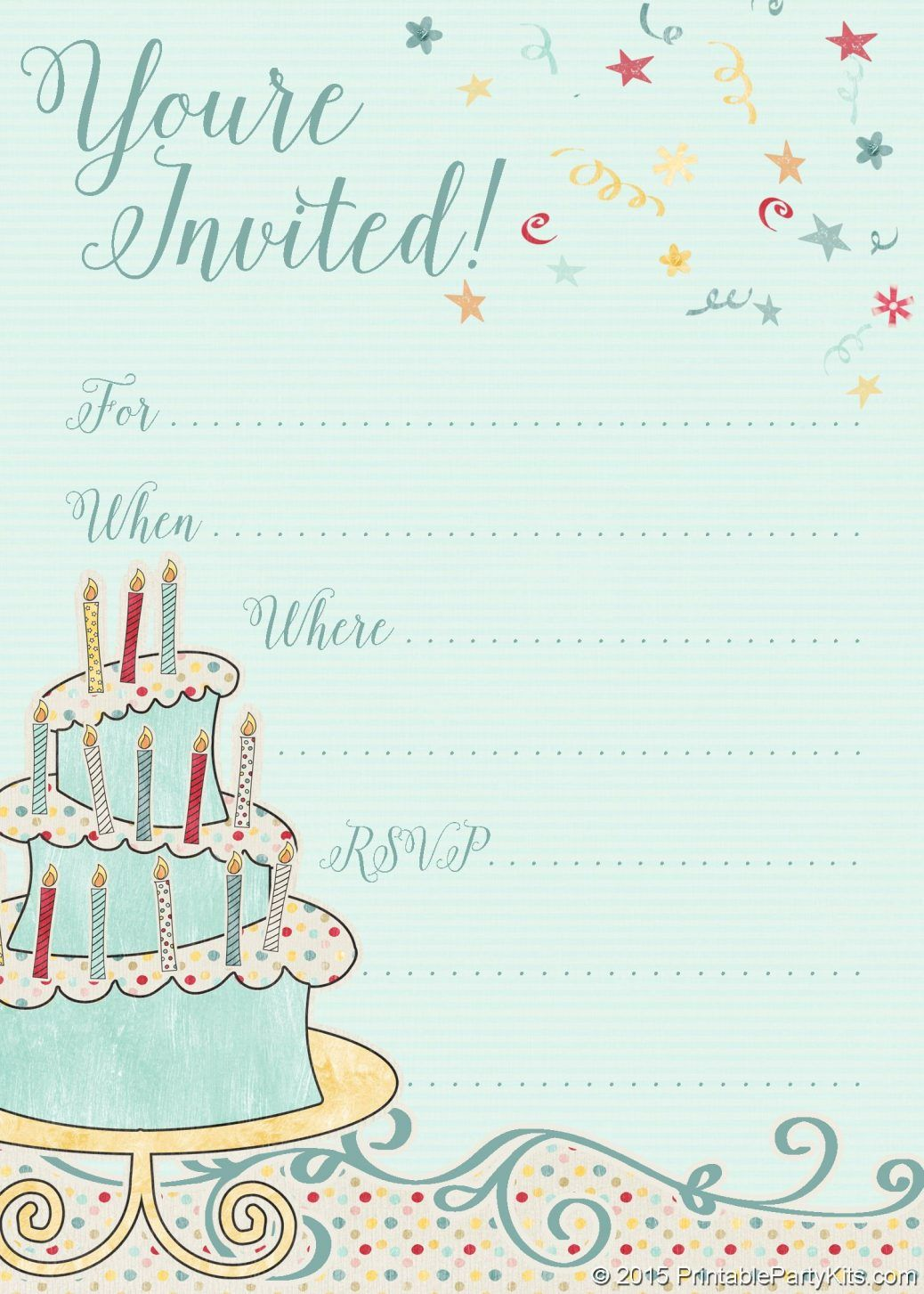 Birthday Invitations Free Online Invitation Card Design Party
