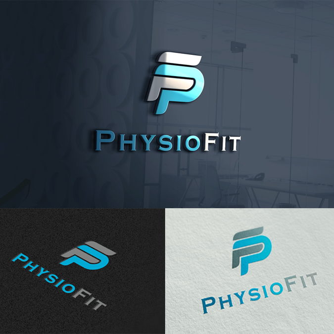 physiotherapy logo pf by muhammadzaeni logos designs