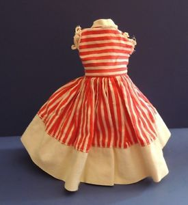 Image result for red cream stripe gown