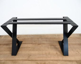 28 Quot X Frame Wide Flat Steel Table Legs 16 Quot W Height