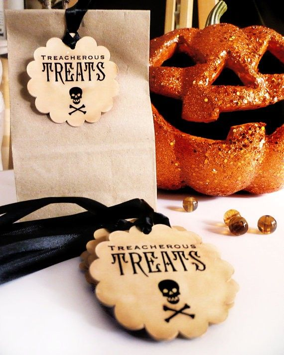 Creepy Halloween Labels Halloween treat bag tags food labels #creepy - halloween treat bag ideas