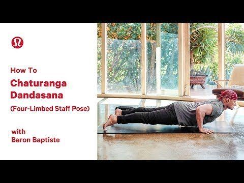 how to chaturanga dandasana fourlimbed staff pose with