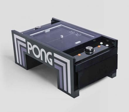 Atari Pong Coffee Table Lets You Play Real Life Pong With Images