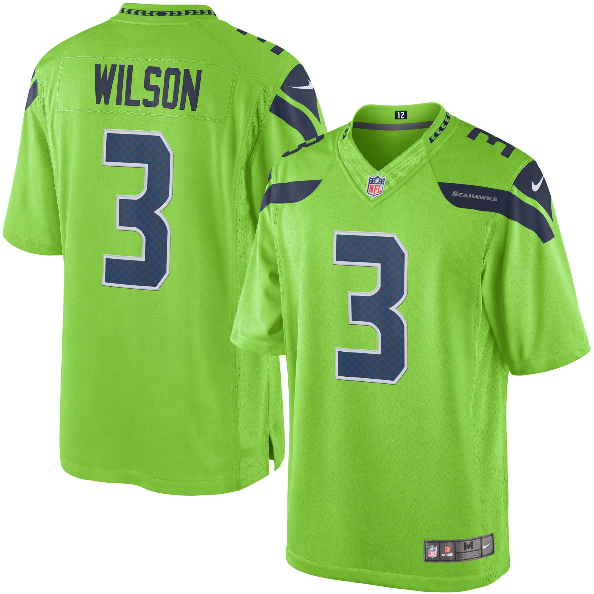 Men's Nike Russell Wilson Green Seattle Seahawks Color Rush ...