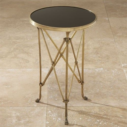 Global Views Directoire Table in Brass and Black Granite Pinterest