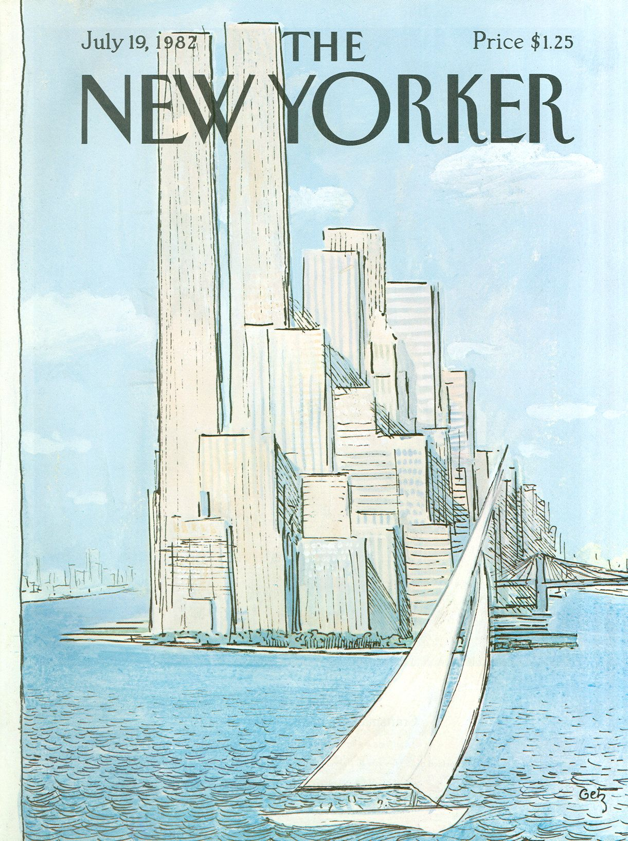 The New Yorker - Monday, July 19, 1982 - Issue # 2996 - Vol. 58 - N° 22 - Cover by : Arthur Getz