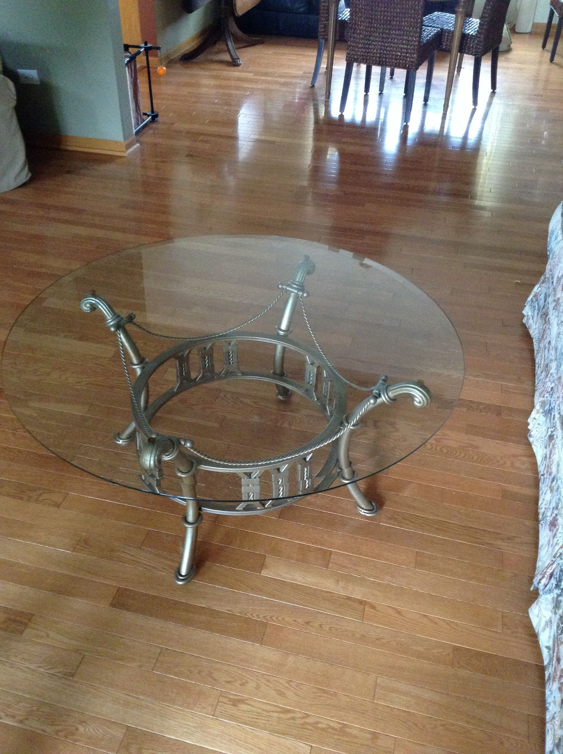 End tables with glass tops and matching coffee table in