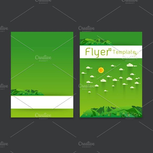 Landscape Poster Template  Flyer Template