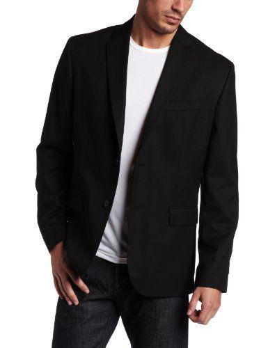 Calvin Klein Sportswear Men s Solid Classic Fit Sport Coat Casaco De  Esporte Preto, Casaco Esportivo 0d9daf0496