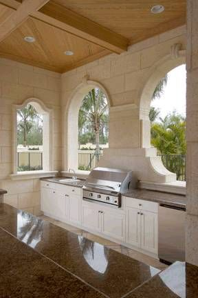 Covered Outdoor Kitchen Gracious HOME Pinterest Summer kitchen - küche selber bauen holz