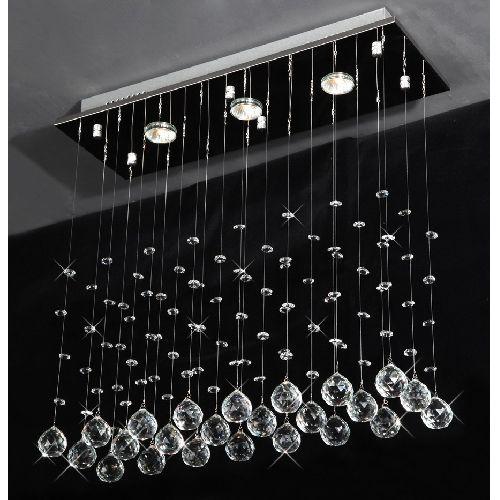 Drops of Rain Crystal Chandelier Modern Raindrop Design Lighting – Raindrop Chandelier Crystals