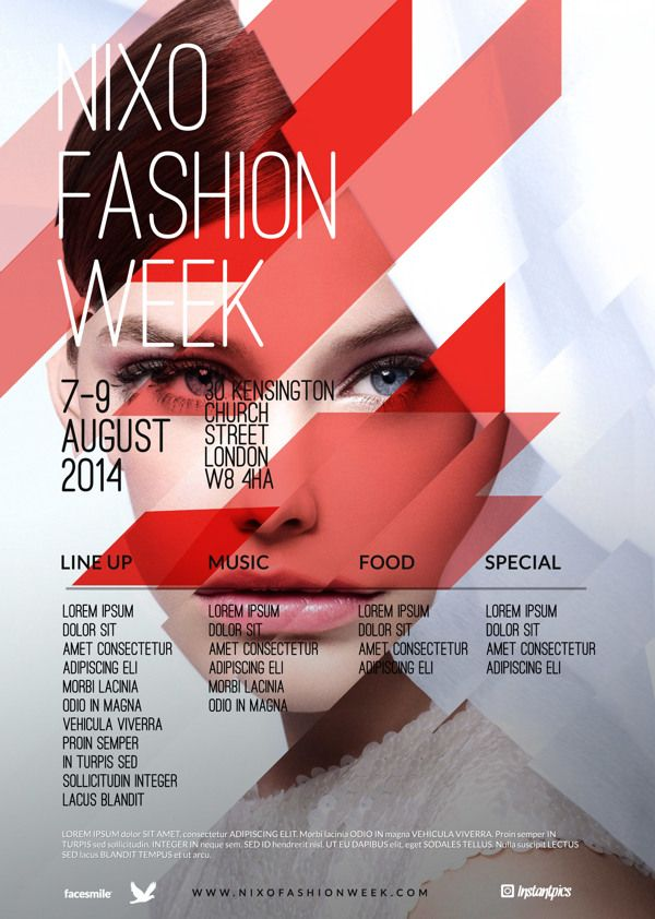 Contemporary Fashion Flyer Poster A4 on Behance Дизайн - contemporary flyer