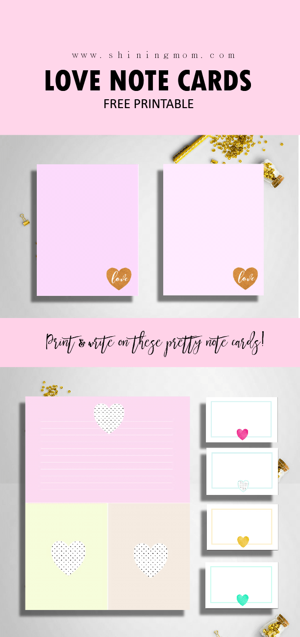 Send These Free Printable Love Notes On Valentine S Day Printable Note Cards Printable Valentines Cards Valentines Printables Free