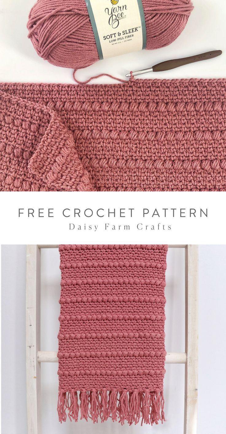 Crochet Boho Puff Stripes Blanket – couverture – #BabyKnits #blanket #Boho #croch …   – My Blog