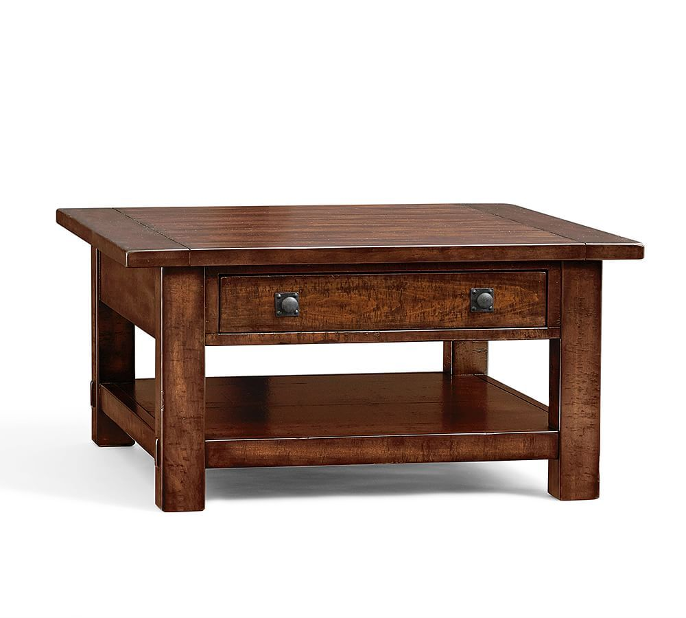 Benchwright Square Coffee Table Coffee Table Pottery Barn