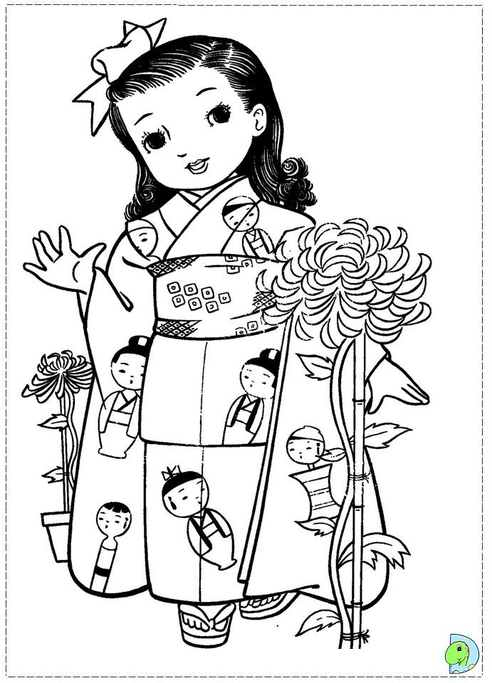Japan Girls Day Images Www Dinokids Org Coloring Pages