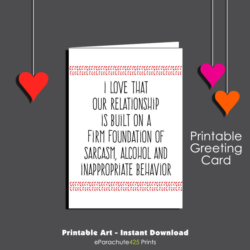 graphic about Inappropriate Birthday Cards Printable known as Sarcastic Mate Birthday Card, Printable Card, Humorous