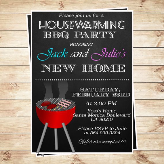 Printable BBQ Party Invitation Templates by ArtPartyInvitation - best of invitation card format for griha pravesh