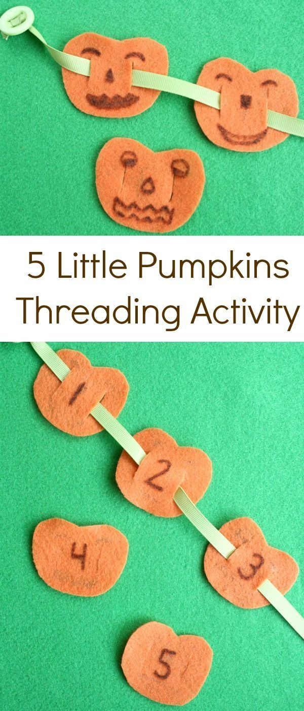5 Little Pumpkins Threading Activity