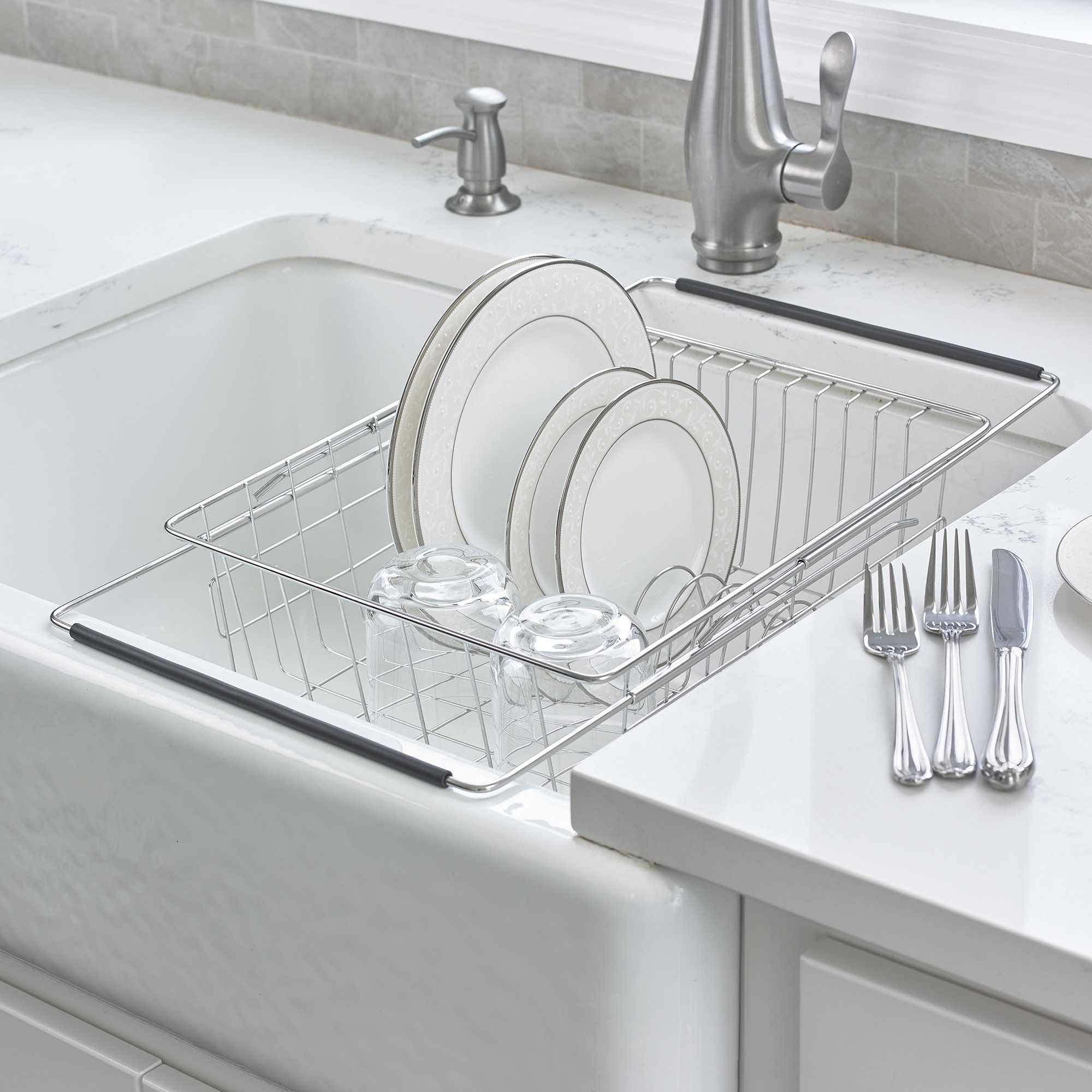 Expandable In Sink Dish Rack In 2021 Kitchen Sink Drying Rack Sink Dish Rack Drying Rack Kitchen